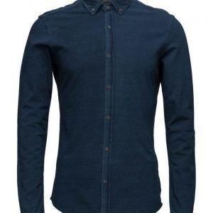 Scotch & Soda Longsleeve Shirt In Cotton Pique Stretch Quality