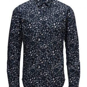 Scotch & Soda Longsleeve Shirt With All-Over Printed