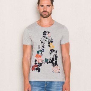 Scotch & Soda Plasement Tee 39 Grey Melange