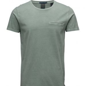 Scotch & Soda Summery 1 Pocket Tee With Embroidery