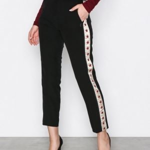 Scotch & Soda Tailored Embroidered Pant Housut Black