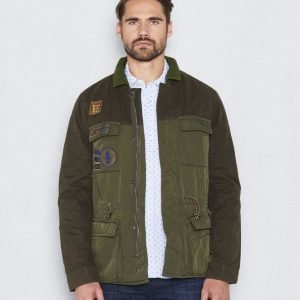 Scotch & Soda Workout Hunter Jacket Dessin A Olive