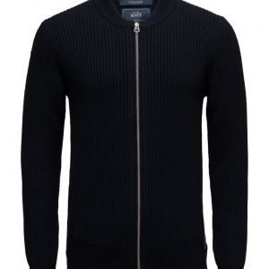 Scotch & Soda Zip-Thru Cardigan In Merino/Cotton Quality neuletakki