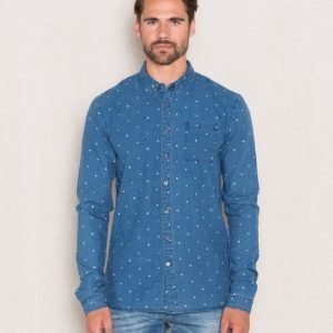 Scotch & Soda Indigo Polka Dot Shirt Dessin D Indigo