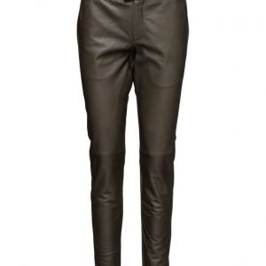 Second Female New Roberta Leather Pants suorat housut