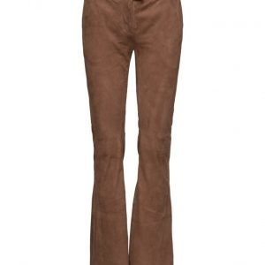Second Female Oak Suede Flared Pants leveälahkeiset housut