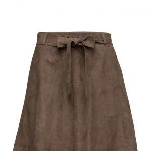 Second Female Rut Wide Suede Skirt lyhyt hame