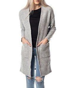 Selected Femme Darla Knit Cardigan Light Grey Melange