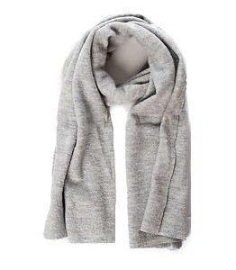 Selected Femme Darla Knit Scarf Light Grey Melange
