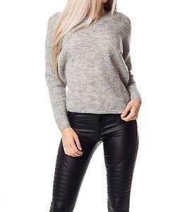 Selected Femme Livana Knit Pullover Light Grey Melange