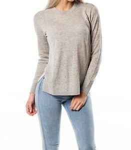 Selected Femme Maia Knit Pullover Light Grey Melange