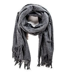 Selected Femme Mary Wool Scarf Light Grey Melange