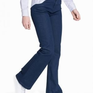Selected Femme SFANNIE MR FLARED JEANS DARK BLUE