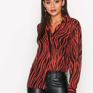 Selected Femme Sfaggy Ls Shirt Ofw Juhlapaita Punainen