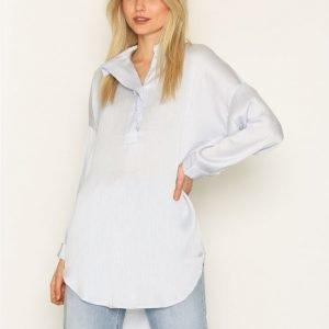 Selected Femme Sfaugusta 7 / 8 Shirt Kauluspaita Sininen