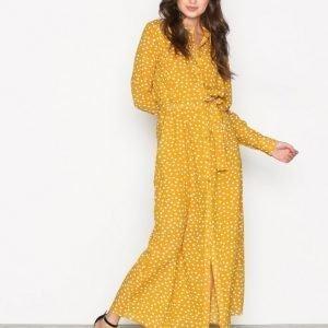 Selected Femme Sfchanie Ls Long Dress Rt Maksimekko Mörk Gul