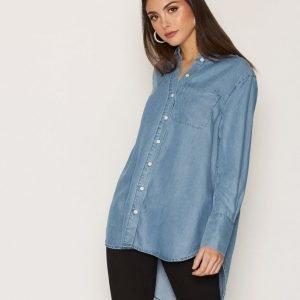 Selected Femme Sfdahrma Ls Denim Shirt Kauluspaita Sininen
