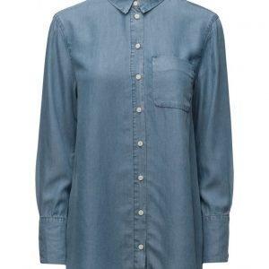 Selected Femme Sfdahrma Ls Denim Shirt pitkähihainen paita