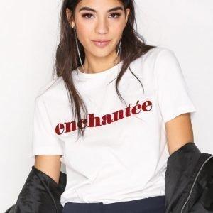 Selected Femme Sfenchantee Ss Tee T-Paita Valkoinen
