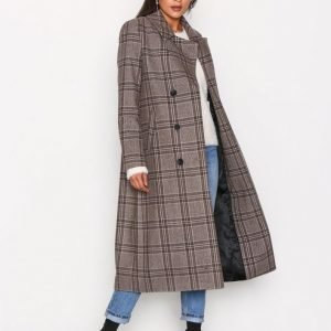 Selected Femme Sffaye Coat H Ex Pitkä Takki Ruskea