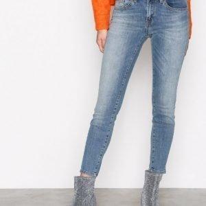 Selected Femme Sfida Mw Cropped Jeans Blue Water N Farkut Sininen