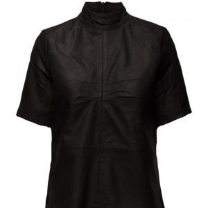 Selected Femme Sfjone Ss Leather Top lyhythihainen pusero