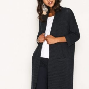 Selected Femme Sflaua 3 / 4 Knit Loose Cardigan Neuletakki Tummansininen