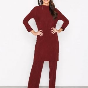 Selected Femme Sflecia 7 / 8 Dress Ex Pitkähihainen Mekko Tummanpunainen