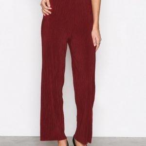Selected Femme Sflecia Mw Pants Ex Housut Tummanpunainen