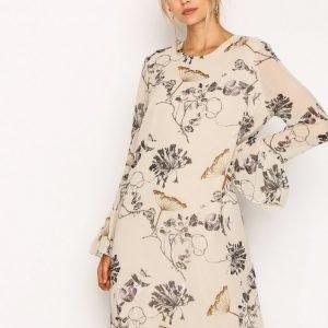 Selected Femme Sflima Ls Dress Pitkähihainen Mekko Vaaleanharmaa