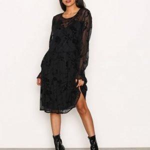Selected Femme Sflizet Ls Dress Rt Loose Fit Mekko Tummansininen