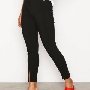 Selected Femme Sfmuno Hw Cropped Pant Housut Musta