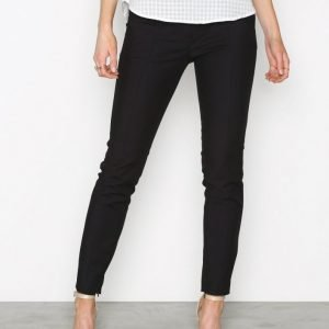 Selected Femme Sfmuse Cropped Mw Pant Noos Housut Musta