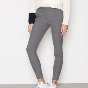 Selected Femme Sfmuse Cropped Mw Pant Noos Mgm Housut Harmaa