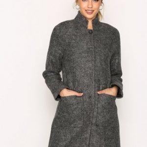 Selected Femme Sfnashwill Wool Coat H Pitkä Takki Harmaa