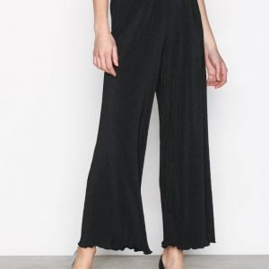 Selected Femme Sfplisa Mw Cropped Pant Housut Musta