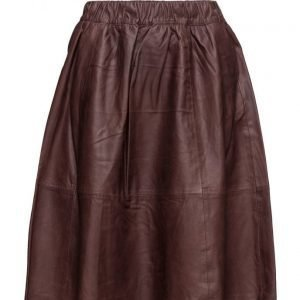 Selected Femme Sfsalta Mw Leather Skirt mekko