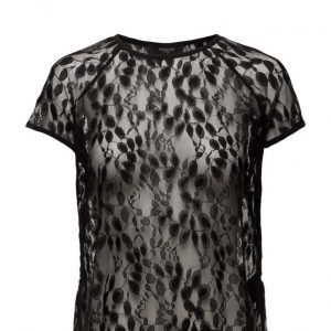 Selected Femme Sfselina Ss Lace Top lyhythihainen pusero