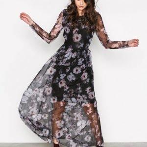 Selected Femme Sfsunna Ls Mesh Dress Ex Maksimekko Musta