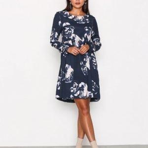 Selected Femme Sftamira Ls Dress H Mekko Tummansininen