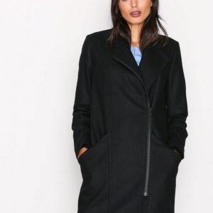 Selected Femme Sftinna Wool Coat H Pitkä Takki Musta