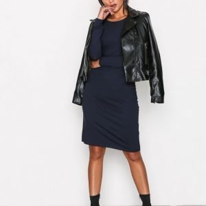 Selected Femme Sfvona Ls Dress Ex Mekko Tummansininen