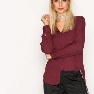 Selected Femme Slfdynella Ls Shirt Noos Arkipaita Tummanvioletti