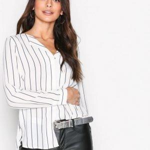Selected Femme Slfdynella Stripe Ls Shirt Noos Arkipaita Tummansininen
