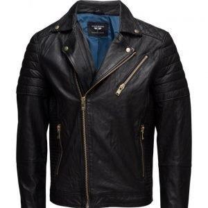 Selected Homme Ab Gold Leather Jacket nahkatakki