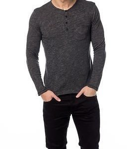 Selected Homme Andro Split Neck Black