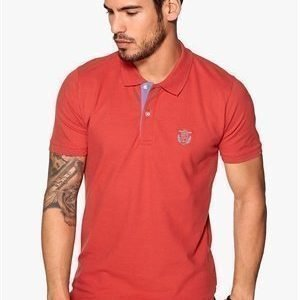 Selected Homme Aro Embroidery Polo Baked Apple