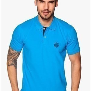 Selected Homme Aro Embroidery Polo Dresden Blue