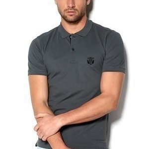 Selected Homme Aro Embroidery Polo Newsprint Grey