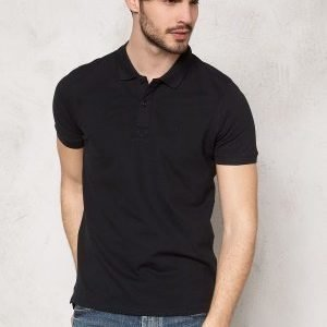 Selected Homme Aro SS Embroidery Polo Black